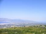 View of Isthmus from Acrocorinth in spring
