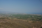 Another view of Corinth's western coastal plain from Acrocorinth
