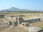 Acrocorinth viewed from baptistery of Lechaion Basilica