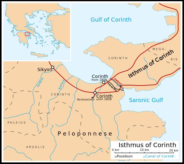 Map of the Corinthia Corinthian Matters