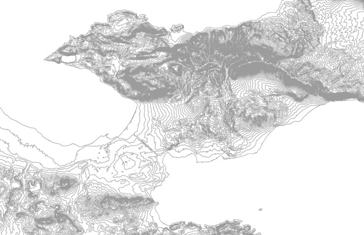 Base Map of Corinthia, 20 m contours (SRTM data)