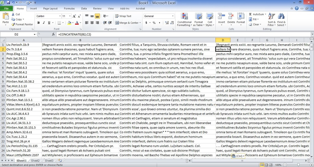 how to break text portion into two columns in word