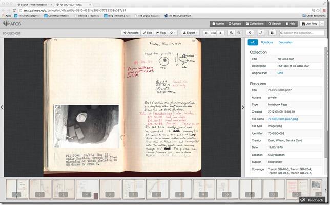 ARCS notebook