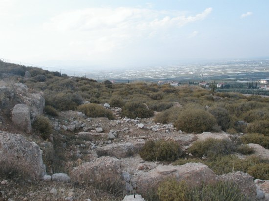 Sanctuary of Demeter and Kore on the lower slopes of Acrocorinth. Photo by David Pettegrew, Nov. 2, 2004