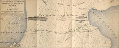 Gerster's plan of the ancient canal cuts, published in an important article in 1884