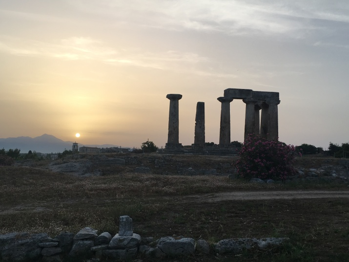 Sunrise over the church of the Panayia, photo by David Pettegrew, May 30, 2016