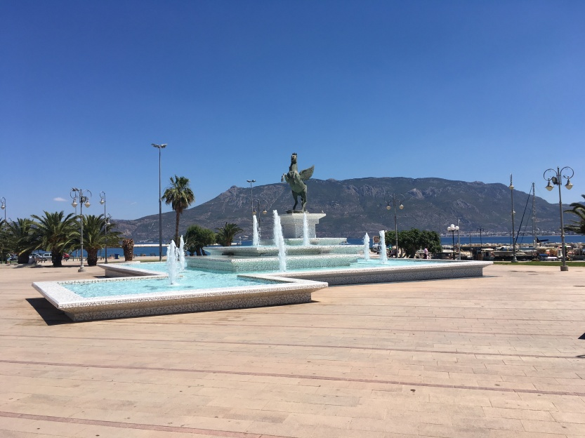 Pegasus and a Fountain in New Corinth.